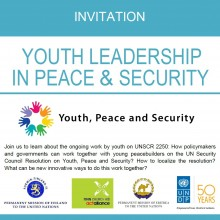 Youth Leadership in Peace & Security