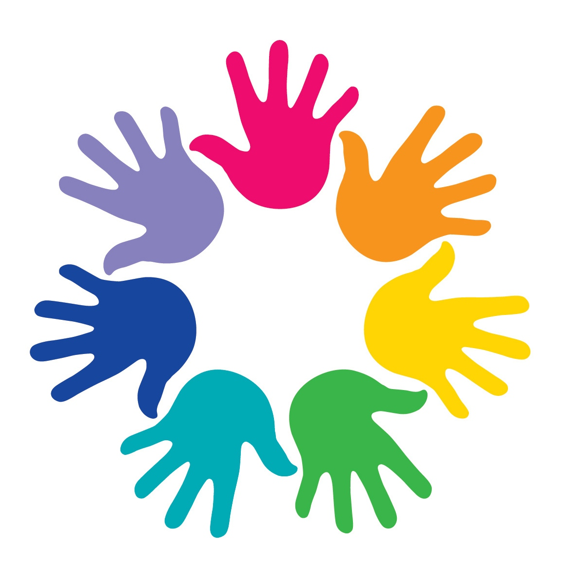Progress Study on Youth Peace and Security - colored hands in a circle